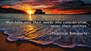 Wise Quote By Napolean Bonaparte