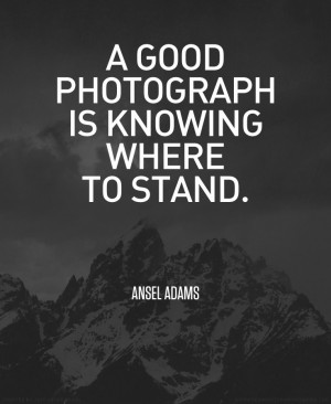 ... isn't a famous photographer, but I really liked this quote by her