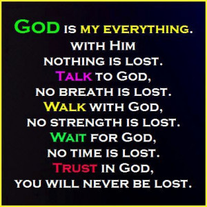 Myspace Graphics > God Quotes > god is my everything Graphic