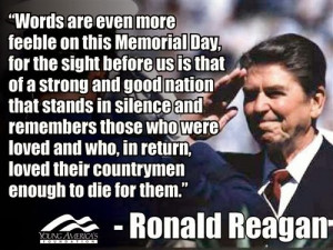 Famous Veterans Day Quotes by Ronald Reagan :