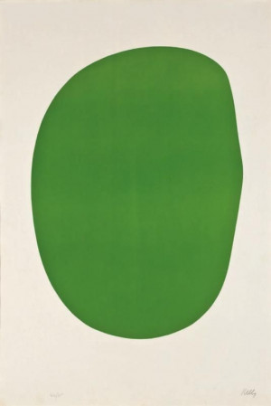 art. lolwut. (by ellsworth kelly or whatever.) it's a green blob!
