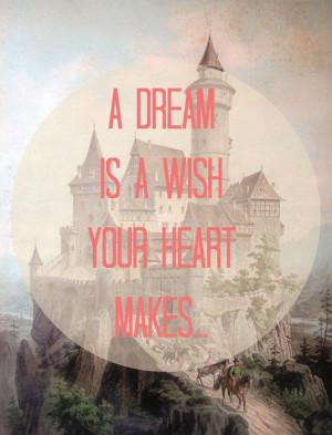 8x10 Typography Vintage Art - Chateau, Castle, Princess - Disney Quote ...