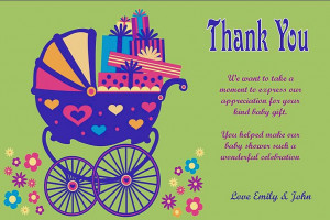 Gallery of Baby Shower Quotes in Greeting Card