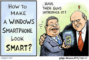 Windows smartphone look smart, keywords: Stephen Elop Steve Ballmer ...