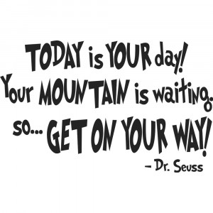Today Is Your Day! Your Mountain Is Waiting So Get On Your Way!