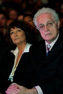 Lionel Jospin z żoną, 2008