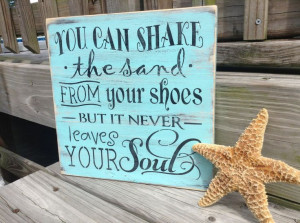 Beach Sign Quote Shake the Sand Nursery and by justbeachyshop, $29.75