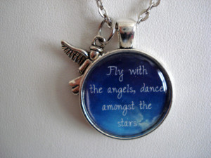 Fly With The Angels Dance Amongst The Stars Necklace or Key Chain ...