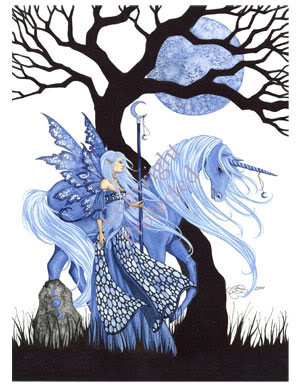 Blue Unicorn Blue Fairy Image