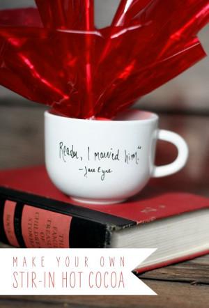 ... Grandma's Favorite Stir-in Hot Cocoa to put in a DIY romantic quote