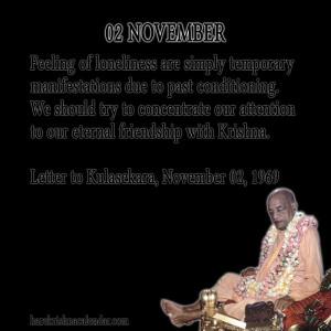 Srila Prabhupada Quotes For Month November 02