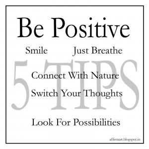 How to keep a positive attitude?