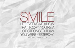 be strong, inspirational, quote, smile, stronger