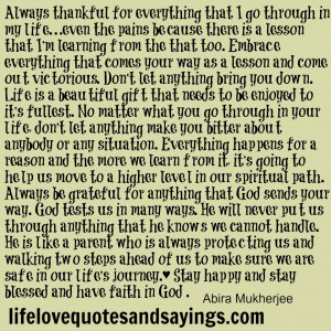 Always Thankful For Everything..