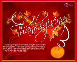 Beautiful Lovely Thanksgiving Day Red Picture Card Quote and HD ...