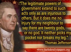 Freedom Religion Quotes Thomas Jefferson