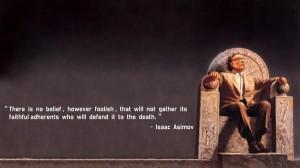 All too easy - isaac asimov, faith, quotes, death