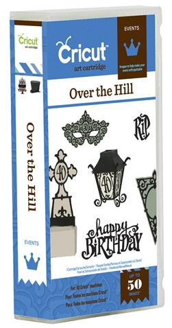 the over the hill cricut cartridge is a cartridge with