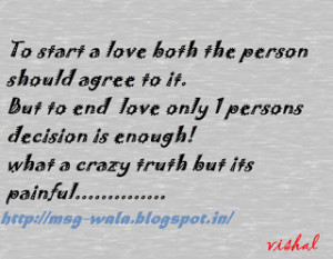 crazy truth of love....