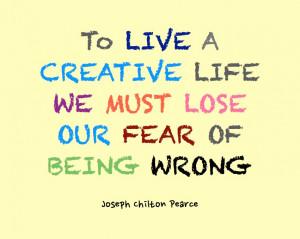 Creative Life Quote