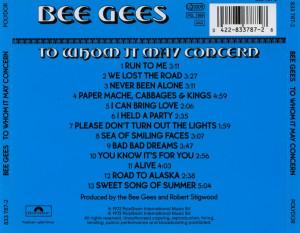 Bee Gees Whom May Concern Back