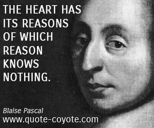 The Heart Blaise Pascal Quotes. QuotesGram