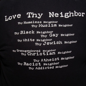 ... father and your mother, and, YOU SHALL LOVE YOUR NEIGHBOR AS YOURSELF