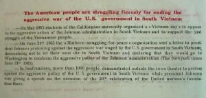 Anti Vietnam War Quotes Depicts american anti-war