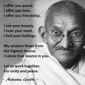 Mohandas Gandhi on Peace