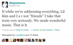 Quote Of The Day: Keyshia Cole Rejects Lil Kim's FriendshipWhy won ...