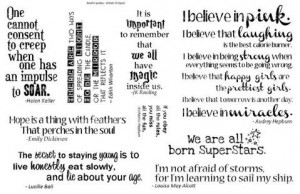 Fabulous Strong Women Quotes - Rubber Stamp Collection - Quote ...