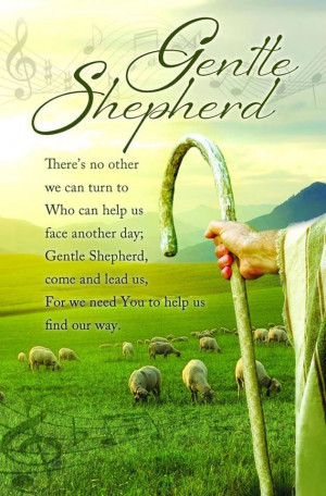 ... my trust. In your name I will stand .... JESUS IS THE GOOD SHEPHERD
