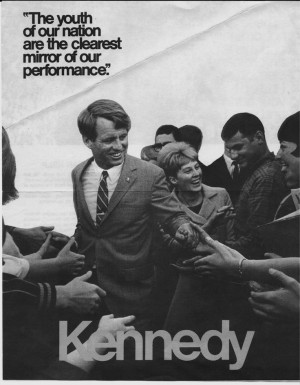 Robert Kennedy campaign poster, 1968