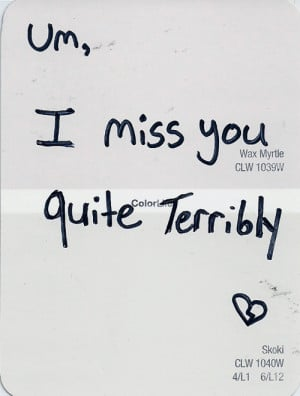Missing someone you see often is literally the worst.