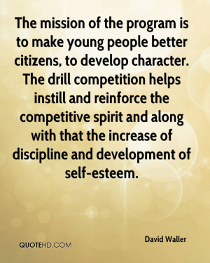 The mission of the program is to make young people better citizens, to ...