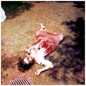 Or by considering the crime scene photographs of the Charles Manson ...
