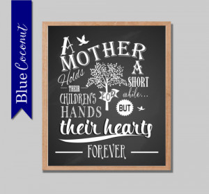 ... quote mom grandparents Mother's Day DIY Printable chalkboard style