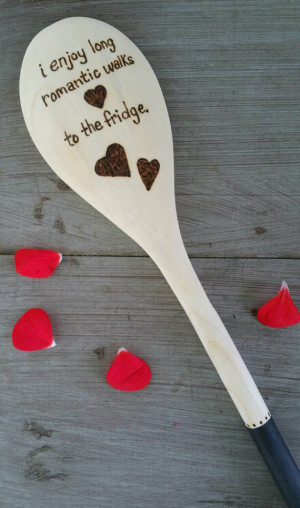 Funny Food Quote Spoon, Wood Burned Spoons, Pyrography, Wooden Kitchen ...