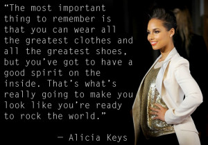 Alicia Keys Quotes About Love Fashion quote of the week: