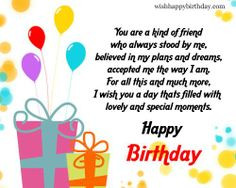 Happy Birthday Wishes For A Friend - Birthday Wishes And Greetings For ...