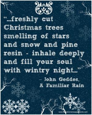 Christmas Advent Calendar Quote