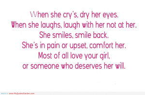 funny love quotes for teenagers when she cry s dry her eyes quotes ...