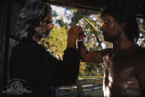 Still of Sam Elliott and Patrick Swayze in Road House (1989)