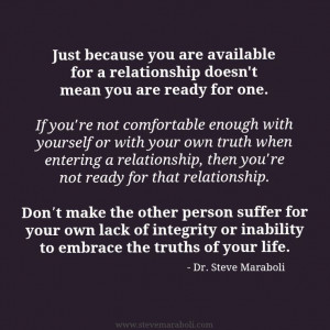 suffer for your own lack of integrity or inability to embrace the ...