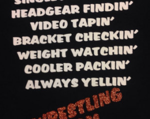 Wrestling Mom saying t-shirt