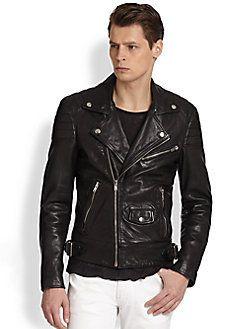 BLK DNM Leather Biker Jacket Quote