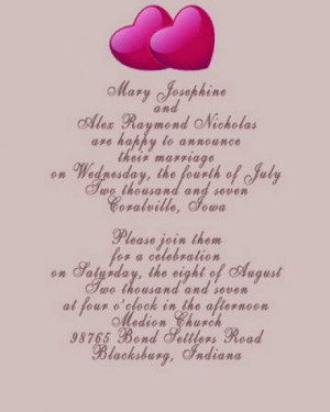 Pictures of Wedding Invitation Wording Suggestions :