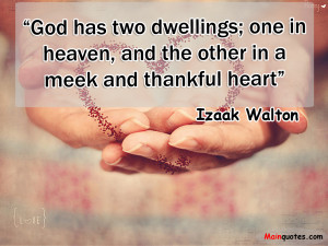 Healing Heart Quotes Sayings A meek and thankful heart.