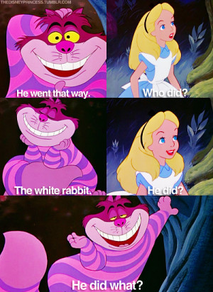 Alice In Wonderland Cheshire Cat Quotes Tumblr Alice in wonderland