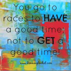 Running Racing Quotes We don't run races to get a